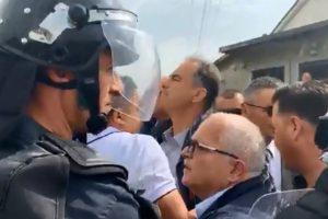 Përplasje me policinë, gurë eskortës së Ramës