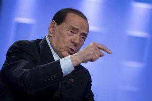 Silvio Berlusconi all'Aria che Tira su La7, programma condotto da Myrta Merlino, Roma, 15 febbraio 2019. ANSA/ MASSIMO PERCOSSI