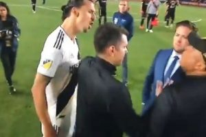"""Sherr me kundërshtarin dhe një deklaratë egoiste, Ibrahimoviç jep """"show"""" në fundin e ndeshjes"""