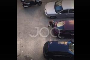 """Gruaja nga Tirana kap """"mat"""" burrin me tjetrën në makinë, rrëmben gurin dhe godet xhamin e mjetit"""