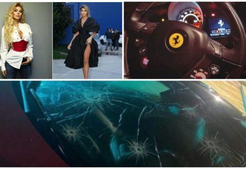 """FOTOT/ Makina """"Ferrari"""" e Luana Vjollcës sulmohet në mesnatë, ana e errët e jetës plot rreziqe të moderatores"""