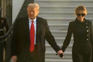 Trump lë Shtëpinë e Bardhë, me Melaninë prej dore nisen me helikopter drejt Floridas