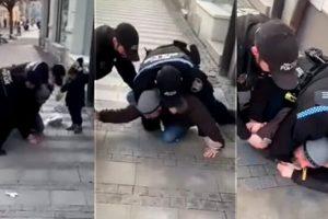 Video/ Polici i vuri gjurin në qafë 40 vjeçarit për disa minuta, vdekja e tij po krahasohet me atë të George Floyd në SHBA