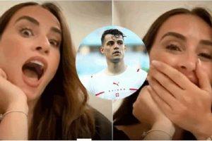 Xhaka ndryshon krejtësisht pamjen në evropian, por bashkëshortja e tij shokohet kur e sheh në kamerë